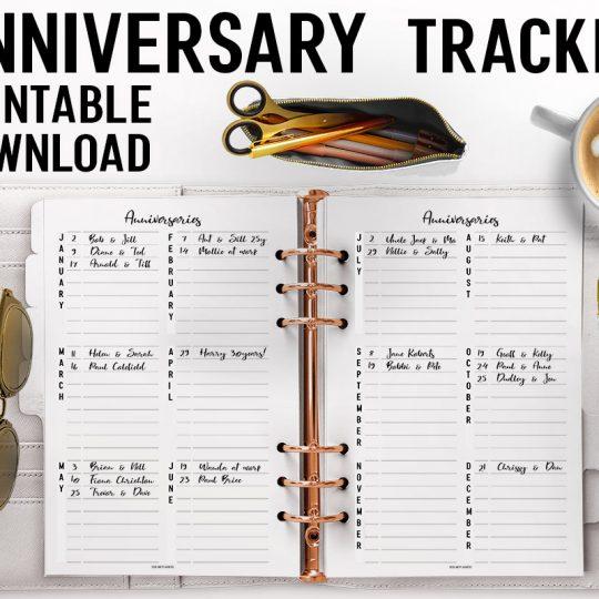 Anniversary Tracker