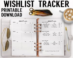 Printable Wishlist Tracker