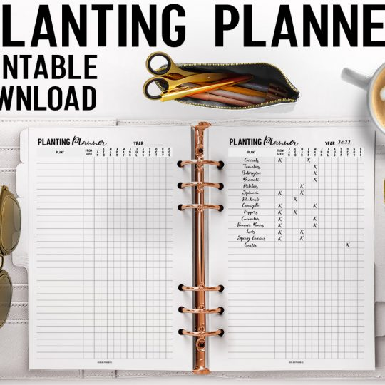 Printable Planting Planner