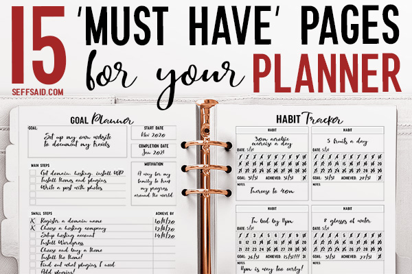 15 Must Have Planner Pages For Your Personal Planner
